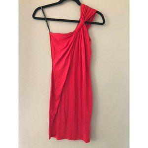 ASOS TFNC Sexy Red Knotted One Shoulder Dress S